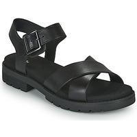 kengät Naiset Sandaalit ja avokkaat Clarks ORINOCO STRAP Musta