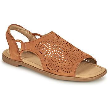 kengät Naiset Sandaalit ja avokkaat Clarks REYNA SWIRL Kamelinruskea