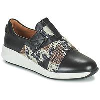 kengät Naiset Matalavartiset tennarit Clarks UN RIO STRAP Musta