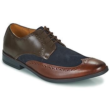 kengät Miehet Derby-kengät Clarks STANFORD LIMIT Ruskea / Sininen