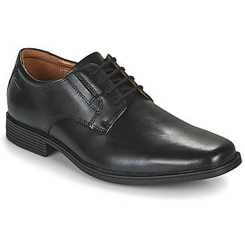 kengät Miehet Derby-kengät Clarks TILDEN PLAIN Musta