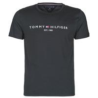 vaatteet Miehet Lyhythihainen t-paita Tommy Hilfiger CORE TOMMY LOGO Musta