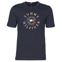 vaatteet Miehet Lyhythihainen t-paita Tommy Hilfiger ICON COIN TEE Laivastonsininen