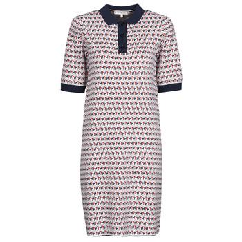 vaatteet Naiset Lyhyt mekko Tommy Hilfiger TH CUBE SHIFT SHORT DRESS SS Valkoinen / Punainen / Laivastonsininen
