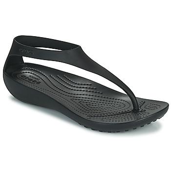 kengät Naiset Varvassandaalit Crocs CROCS SERENA FLIP W Musta