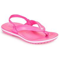 kengät Tytöt Varvassandaalit Crocs CROCBAND STRAP FLIP K Vaaleanpunainen