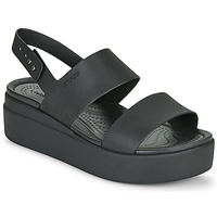 kengät Naiset Sandaalit ja avokkaat Crocs CROCS BROOKLYN LOW WEDGE W Musta