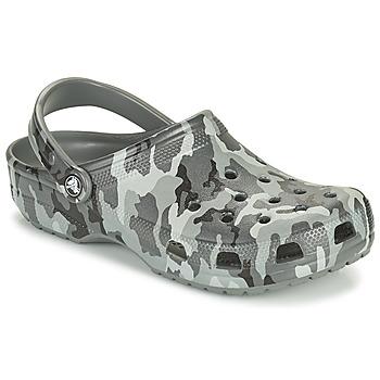 kengät Miehet Puukengät Crocs CLASSIC PRINTED CAMO CLOG Maastokuviot / Harmaa