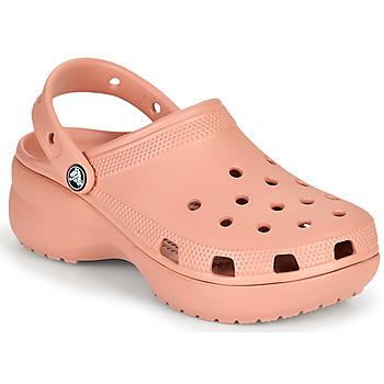kengät Naiset Puukengät Crocs CLASSIC PLATFORM CLOG W Vaaleanpunainen
