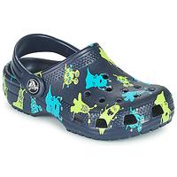 kengät Pojat Puukengät Crocs CLASSIC MONSTER PRINT CLOG T Sininen
