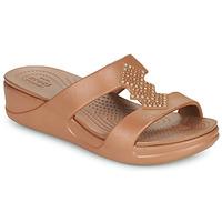 kengät Naiset Sandaalit Crocs CROCSMONTEREYSHIMMERSLPONWDG W Pronssi