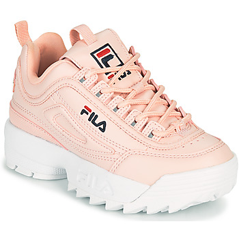 kengät Tytöt Matalavartiset tennarit Fila DISRUPTOR KIDS Vaaleanpunainen