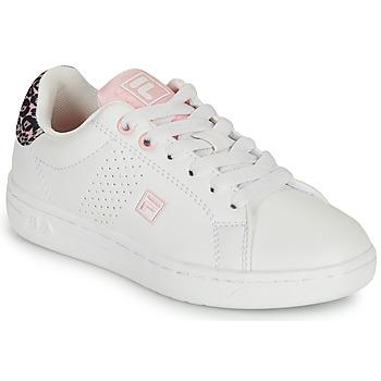 kengät Tytöt Matalavartiset tennarit Fila CROSSCOURT 2 NT KIDS Valkoinen / Vaaleanpunainen