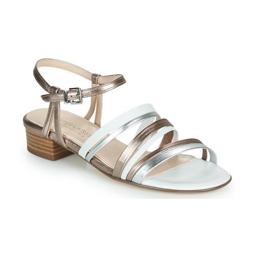 kengät Naiset Sandaalit ja avokkaat Peter Kaiser PATIA Pronssi / Valkoinen