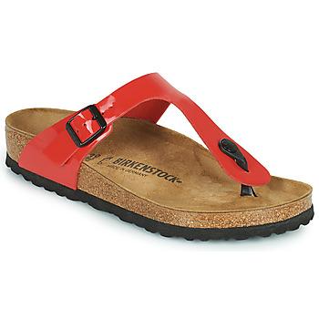 kengät Naiset Varvassandaalit Birkenstock GIZEH Punainen