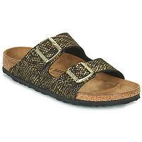 kengät Naiset Sandaalit Birkenstock ARIZONA Musta / Kulta