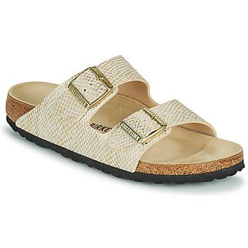 kengät Naiset Sandaalit Birkenstock ARIZONA Kulta / Valkoinen