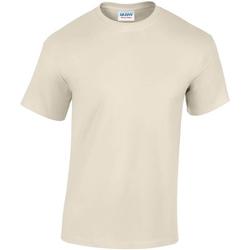 vaatteet Miehet Lyhythihainen t-paita Gildan GD05 Sand