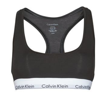Alusvaatteet Naiset Rintaliivit Calvin Klein Jeans MODERN COTTON UNLINED BRALETTE Musta