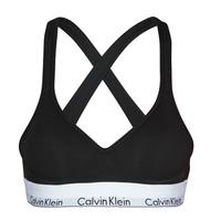Alusvaatteet Naiset Rintaliivit Calvin Klein Jeans MODERN COTTON BRALETTE LIFT Musta