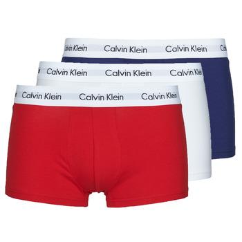 Alusvaatteet Miehet Bokserit Calvin Klein Jeans RISE TRUNK X3 Laivastonsininen / Valkoinen / Punainen