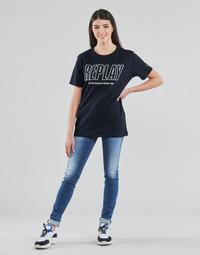vaatteet Naiset Skinny-farkut Replay HYPERFLEX LUZ Sininen