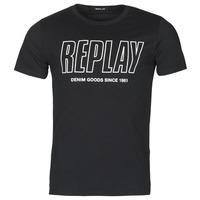 vaatteet Miehet Lyhythihainen t-paita Replay M3395-2660 Musta