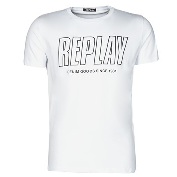 vaatteet Miehet Lyhythihainen t-paita Replay M3395-2660 Valkoinen