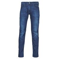 vaatteet Miehet Slim-farkut Replay ANBASS Pants Sininen