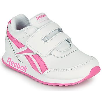 kengät Tytöt Matalavartiset tennarit Reebok Classic REEBOK ROYAL CLJOG 2 KC Valkoinen / Vaaleanpunainen