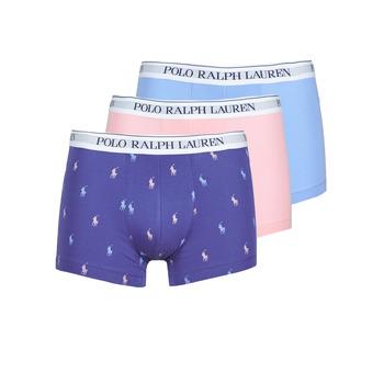 Alusvaatteet Miehet Bokserit Polo Ralph Lauren CLASSIC TRUNK X3 Vaaleanpunainen / Sininen / Laivastonsininen