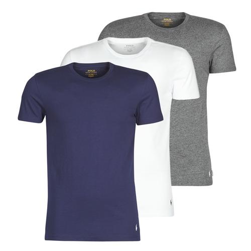 vaatteet Miehet Lyhythihainen t-paita Polo Ralph Lauren SS CREW NECK X3 Laivastonsininen / Harmaa / Valkoinen