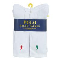 Asusteet / tarvikkeet Miehet Sukat Polo Ralph Lauren ASX110 6 PACK COTTON Valkoinen