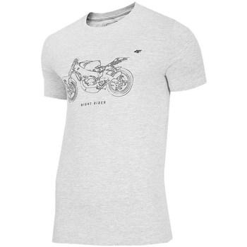 vaatteet Miehet Lyhythihainen t-paita 4F TSM012 Harmaat