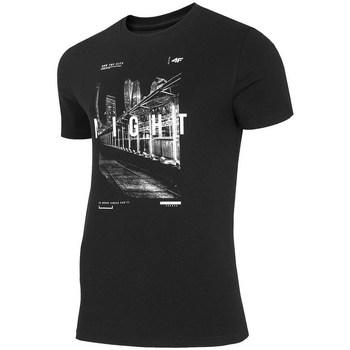 vaatteet Miehet Lyhythihainen t-paita 4F TSM025 Mustat