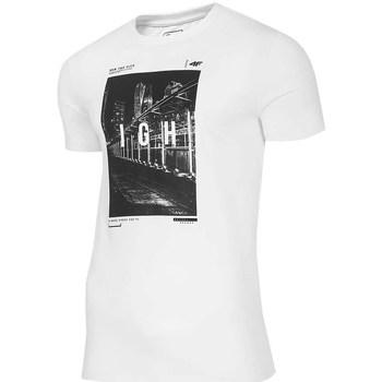 vaatteet Miehet Lyhythihainen t-paita 4F TSM025 Valkoiset