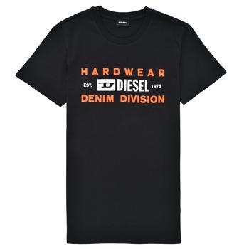 vaatteet Pojat Lyhythihainen t-paita Diesel TDIEGOSK32 Musta