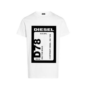 vaatteet Pojat Lyhythihainen t-paita Diesel TFULL78 White