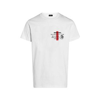 vaatteet Pojat Lyhythihainen t-paita Diesel TDIEGOS Valkoinen