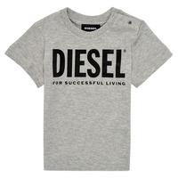 vaatteet Lapset Lyhythihainen t-paita Diesel TJUSTLOGOB Harmaa