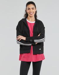 vaatteet Naiset Svetari adidas Performance W Knit V Hoodie Musta