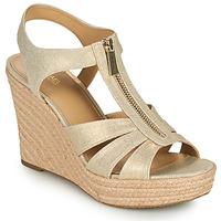 kengät Naiset Sandaalit ja avokkaat MICHAEL Michael Kors BERKLEY WEDGE Kulta