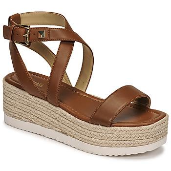 kengät Naiset Sandaalit ja avokkaat MICHAEL Michael Kors LOWRY WEDGE Konjakki