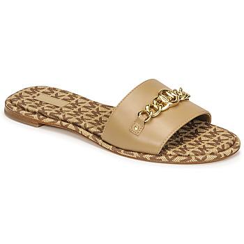 kengät Naiset Sandaalit MICHAEL Michael Kors RINA SLIDE Kamelinruskea