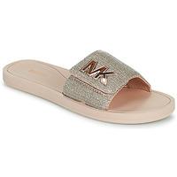 kengät Naiset Rantasandaalit MICHAEL Michael Kors MK SLIDE Vaaleanpunainen / Nude / Kulta