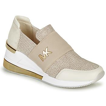 kengät Naiset Matalavartiset tennarit MICHAEL Michael Kors FELIX TRAINER EXTREME Champagne