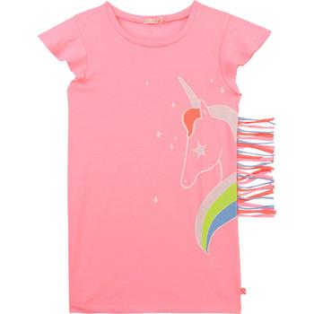 vaatteet Tytöt Lyhyt mekko Billieblush / Billybandit U12625-462 Vaaleanpunainen