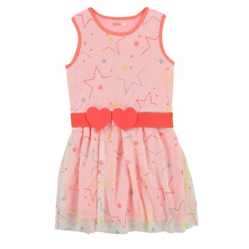 vaatteet Tytöt Lyhyt mekko Billieblush / Billybandit U12646-Z40 Vaaleanpunainen