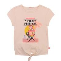 vaatteet Tytöt Lyhythihainen t-paita Billieblush / Billybandit U15852-44F Vaaleanpunainen