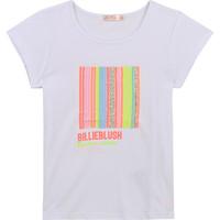 vaatteet Tytöt Lyhythihainen t-paita Billieblush / Billybandit U15857-10B Valkoinen